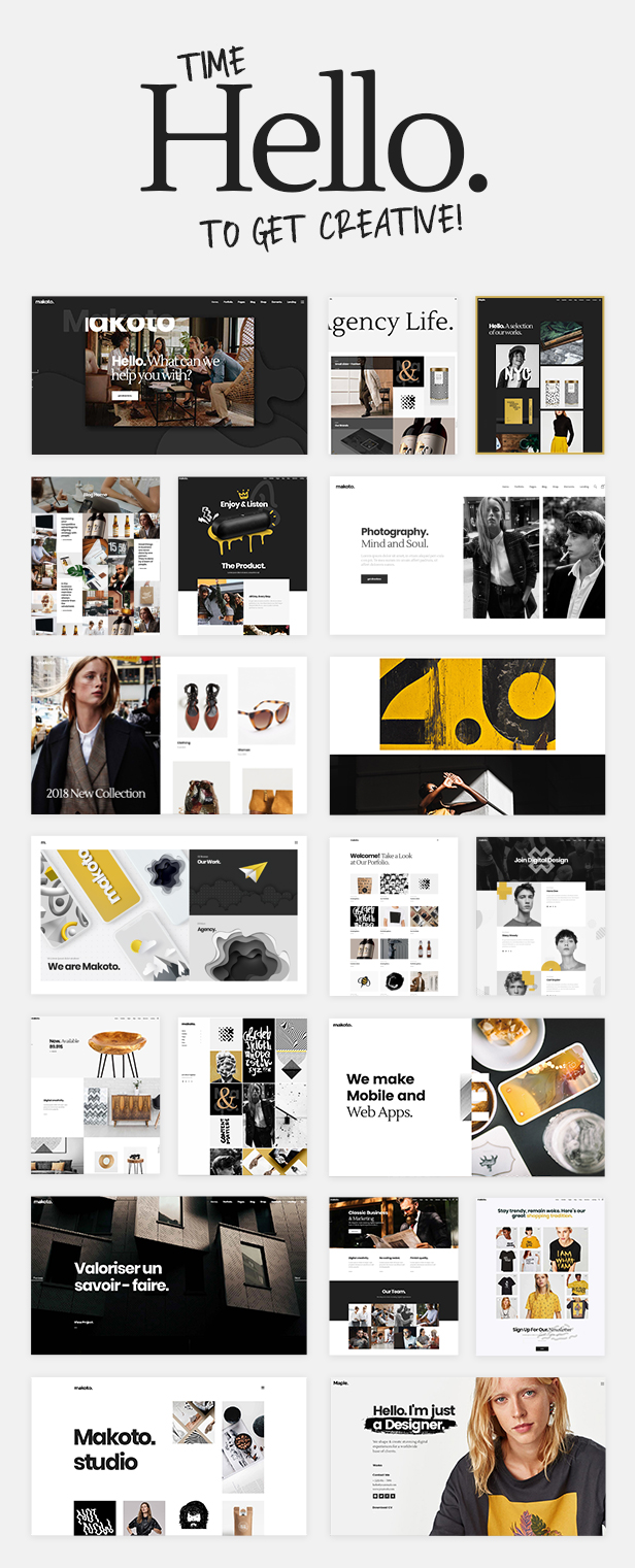 WordPress theme Makoto - A Creative Multipurpose WordPress Theme (Creative)